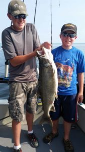 Man and Boy Duluth Charter Fishing