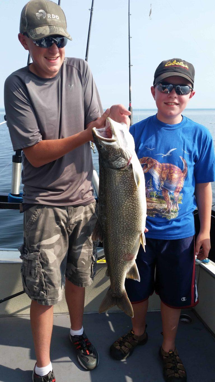 Man and Boy Duluth Charter Fishing